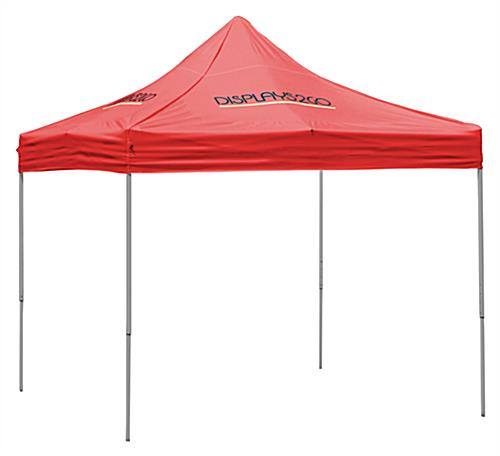 10 x 10 Outdoor Canopy Tent with 4 Custom Imprints, Pop-up, Square - Red (x2020) - Custom Allstars
