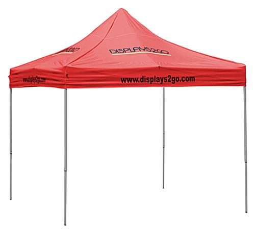 10 x 10 Outdoor Canopy Tent with 8 Custom Imprints, Pop-up, Square - Red (x2020) - Custom Allstars