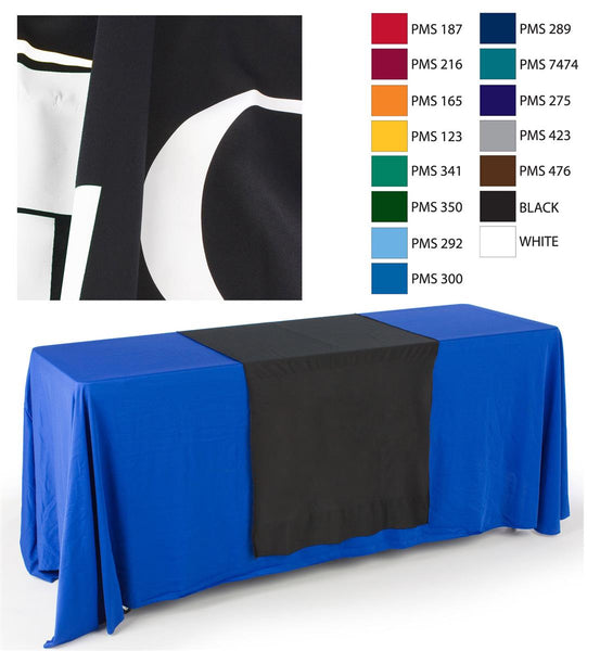 "30""w Logo Table Runner with 1 Color Printing - Black (x2020) - Custom Allstars"