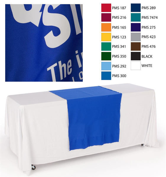 "30""w Logo Table Runner with 1 Color Printing - Blue (x2020) - Custom Allstars"