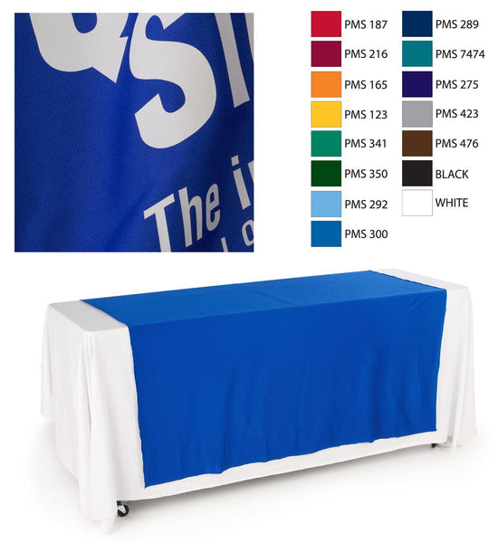 "60""w Logo Table Runner with 1 Color Printing - Blue (x2020) - Custom Allstars"