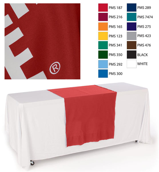 "30""w Logo Table Runner with 1 Color Printing - Red (x2020) - Custom Allstars"