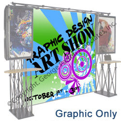 8' x 8' Replacement Graphic for Trade Show Backdrop - Custom Printed Graphics (x2020) - Custom Allstars