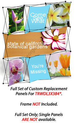 Set of 6 Replacement Panels for TRWDL3X3B4 Pop Up Display - Custom Printed Graphics (x2020) - Custom Allstars