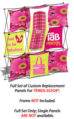 Set of 6 Replacement Panels for TRWDL3X3O4 Pop Up Display - Custom Printed Graphics (x2020) - Custom Allstars