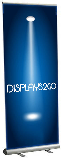 "Retractable Banner Stand with 35"" x 89"" Custom Printed Graphic - Silver (x2020) - Custom Allstars"