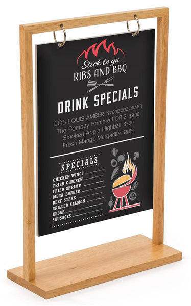 "8.5"" x 11"" Wooden Frame with Double-Sided Custom UV Printed Sign – Maple (x2020) - Custom Allstars"