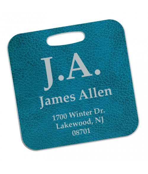"UNISUB SEMI-GLOSS WHITE 3"" X 3"" ALUMINUM BAG TAG (x2020) - Custom Allstars"