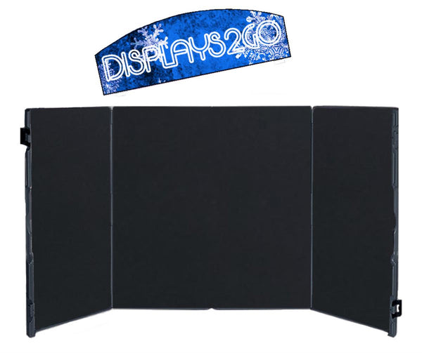 "66""w Tabletop Hook-and-Loop Display Board with Custom UV Printed Header - Black (x2020) - Custom Allstars"