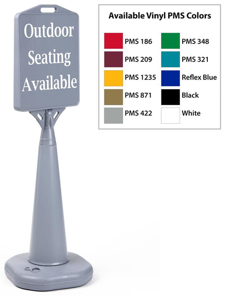 "13"" x 15"" Sign Stand Traffic Cone with Custom Print, Double Sided, Water-fill – Gray (x2020) - Custom Allstars"