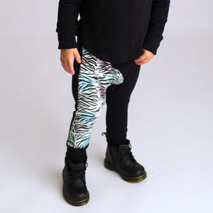 Drop Pant - zebra rainbow