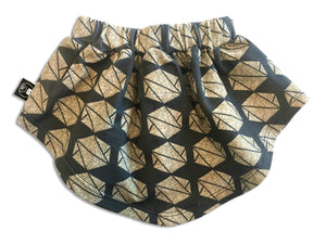 dipper skirt- gold hexagon print