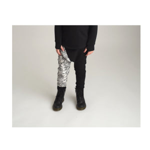 Drop Pant - black/zebra