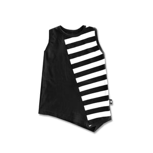 Racer back dress-optic stripes