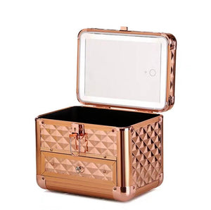 HW Led Box w/ Drawer- Rosegold