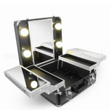 Classic 4 Bulbs Layered Vanity Kit Black