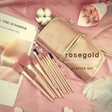 12pcs Makeup Brush Set with Pouch (Rose gold)