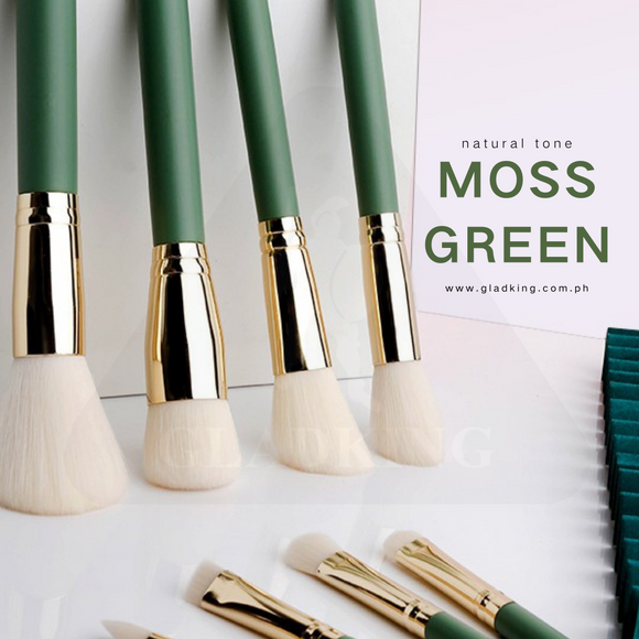 12pcs Moss Nature Color Make up Brush Set