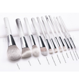 11pcs Marble White Make up Brush Set