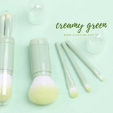 Portable Creamy Green Telescopic Brush