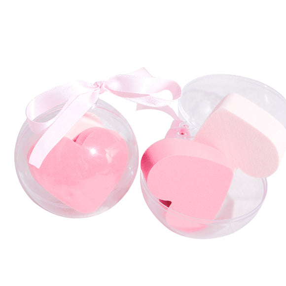 2 Pieces Expandable Heart Sponge Crystal Ball