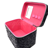 Gladking 3D Crystal Makeup Box Organizer with Mirror