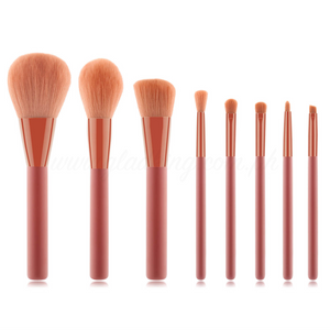 8 Pieces Monotone Coral Brush Set