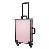 Professional 360 Wheels Vanity Makeup Station Lite Pink