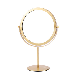 Gold Metal Frame Round Mirror