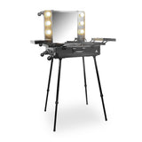 360 Wheels Vanity Makeup Station Hard Black Station