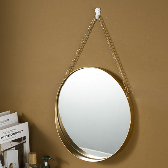Retro Rounded Wall Mirror