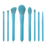 8 Pieces Macaroni Blue Makeup Brush Set