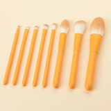 8 Pieces Honey Macaroni Makeup Brush Set