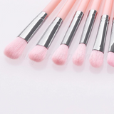 12 Pieces Light Pink Details Brush Set