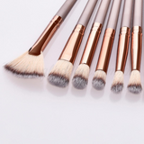 12 Pieces Metallic Details Brush Set