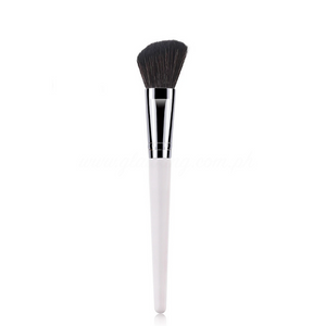 White Painted Handle X Black Bristle Angled Contour Brush