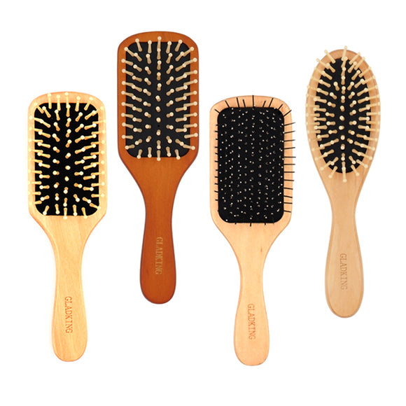 Gladking Bag Size Wooden Paddle Hair Brush