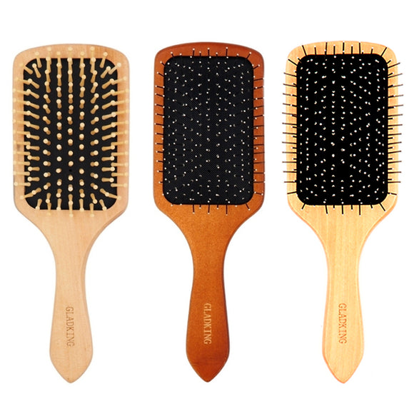 Gladking Big Wooden Paddle Hair Brush