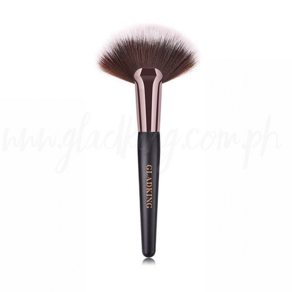Gladking Dark Bronze Handle Fan Brush