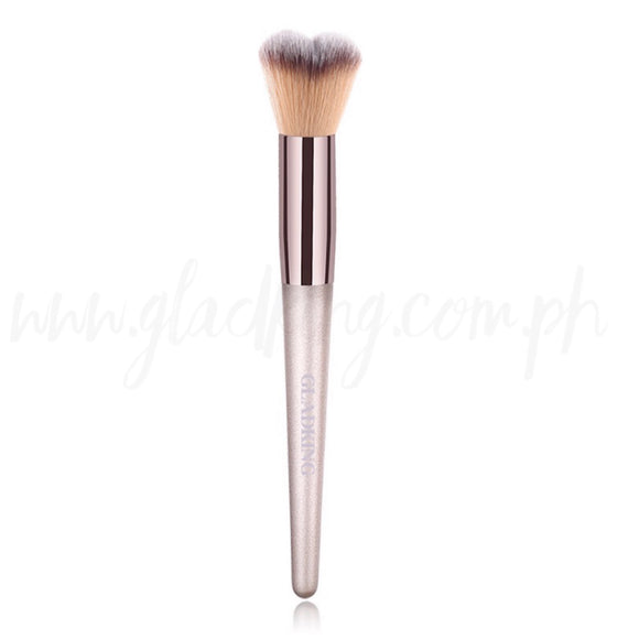 Gladking Heart Bristle Concealer/Blush Brush (Metallic Color)