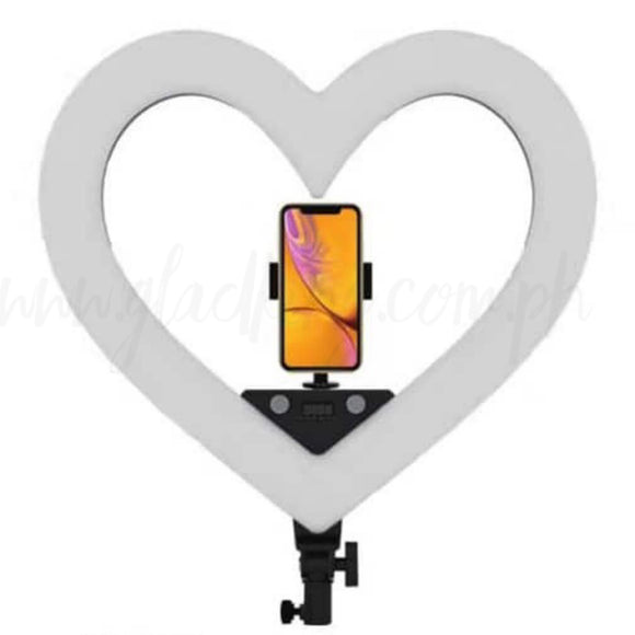 Heart shaped Ringlight RGB Color w/o stand