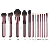 12 pcs Wooden Handle Soft Nylon Bristles Make Up Brush Cosmetics