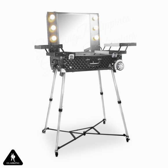 Flagship 360 Degree Professional Makeup Station Diamond Black