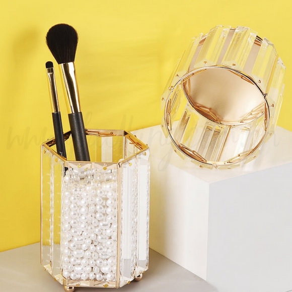 Luxury Gold Makeup Brush Vase