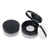 Black Refilling Loose Powder Container w/ Puff