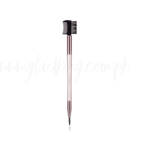 Gladking 2 in 1 Eyeblow Lash/Brow Brush (Metallic Color)