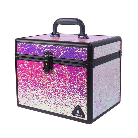 Medium Candy Paper Layered Makeup Box w/ Mirror