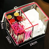 Acrylic Cotton Pads and Swabs Organizer