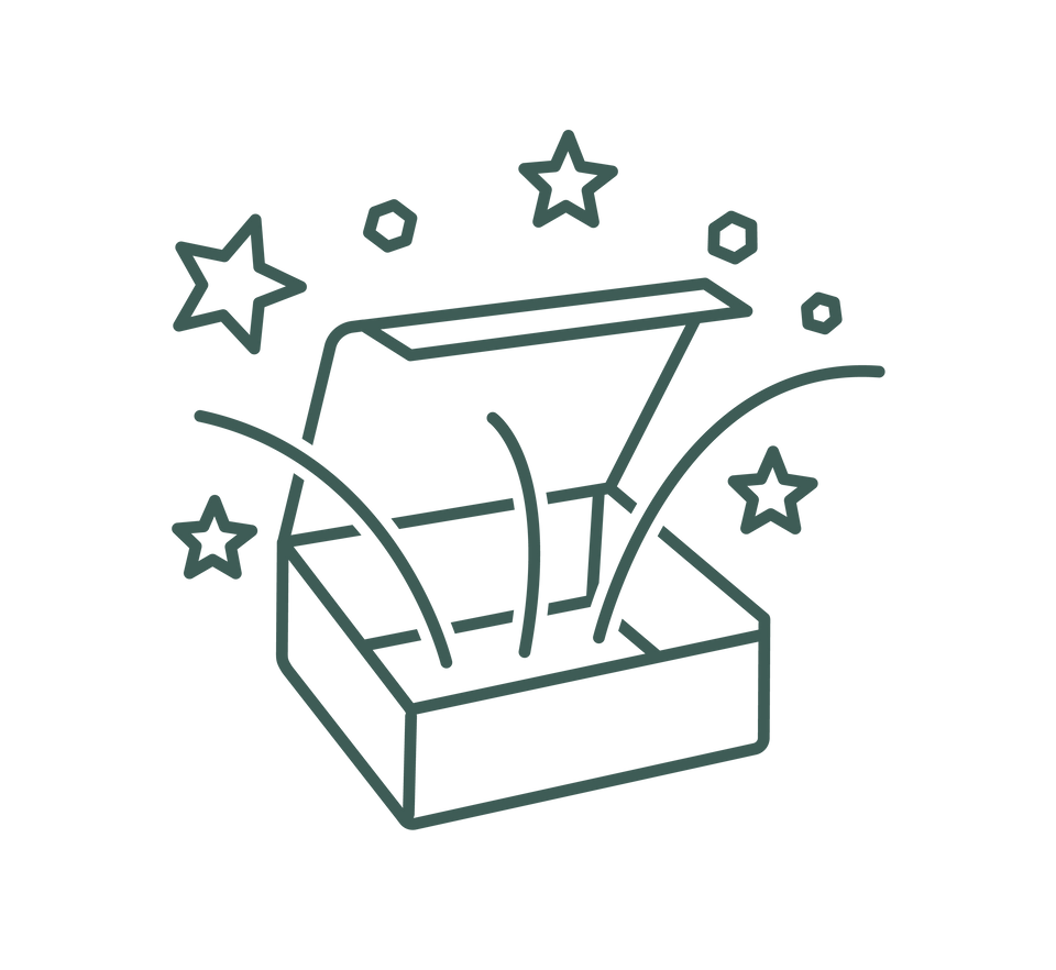 manifest box icon - box with magic coming out