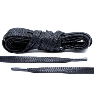 Black Wax Flat Laces, 54
